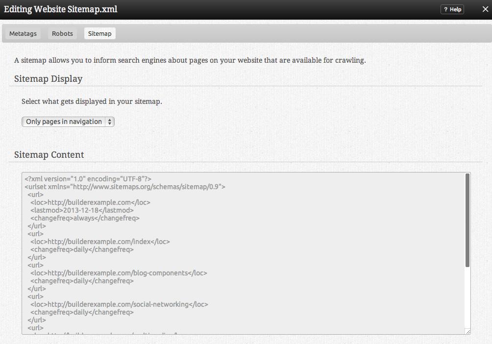sitemap website builder